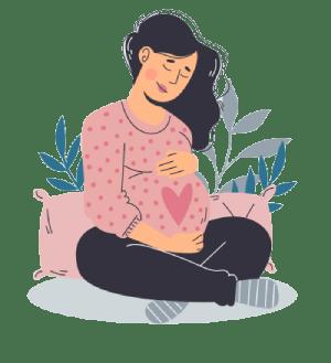illustration femme enceinte épanouie